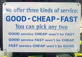cheap, fast service